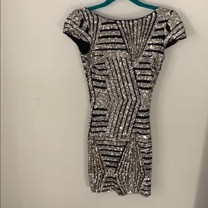 Black and silver sequin Nasty Gal dress XS